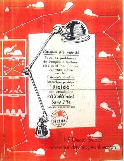 Catálogos de lámparas jieldé. Lámparas auténticas jielde francia