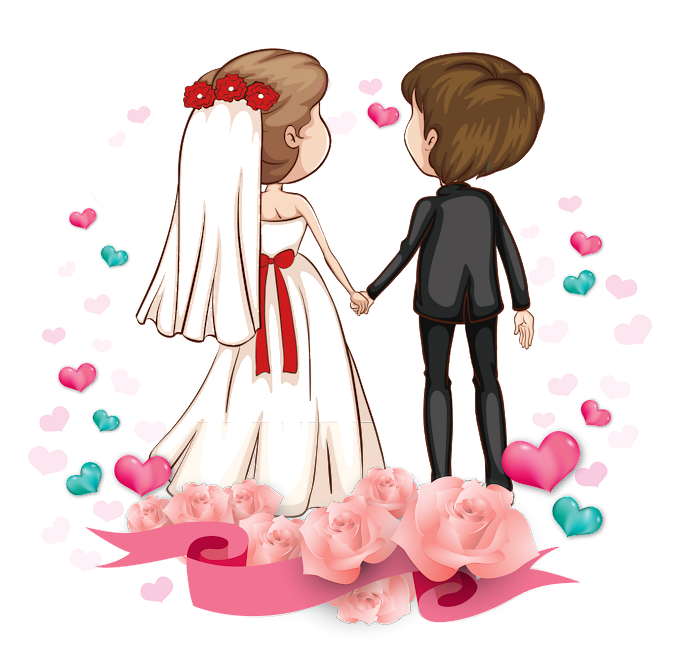 Love Romance couple Cartoon Marriage, Cartoon couple, boy and girl on wedding graphic, love, cartoon Character png by: pngkh.com