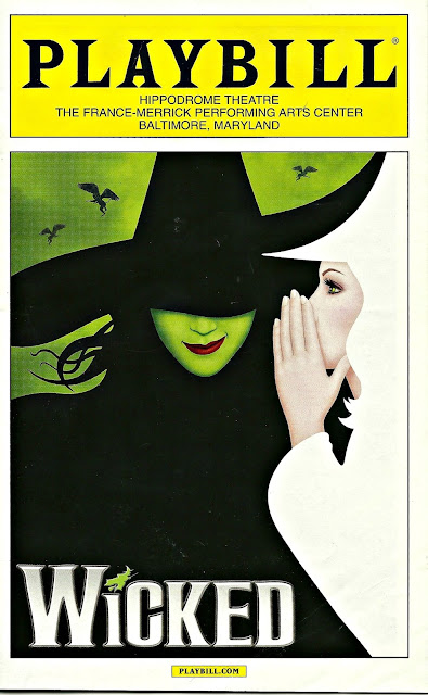 Wicked national tour playbill Baltimore