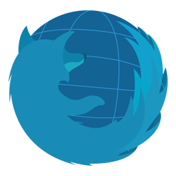 Preview of Blue Firefox Logo Icon