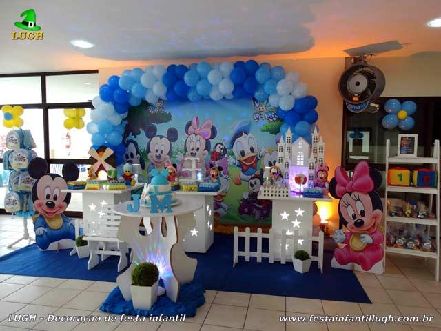 Mesa provençal de aniversário tema da Baby Disney
