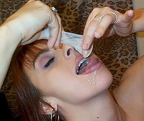 Eating cum from condoms something