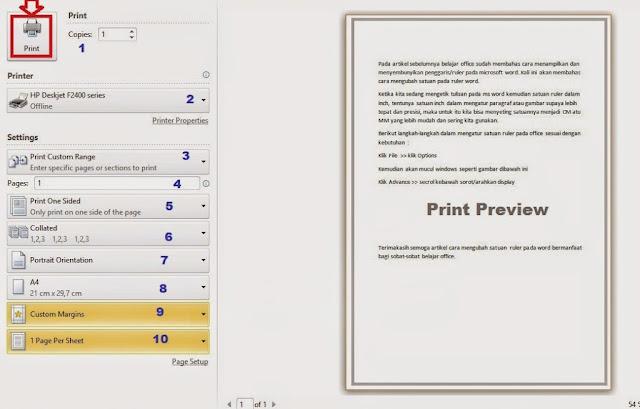 Cara Mudah Mencetak atau Print Dokumen Ms Word 2010