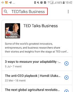Cari Podcast di Google Podcast
