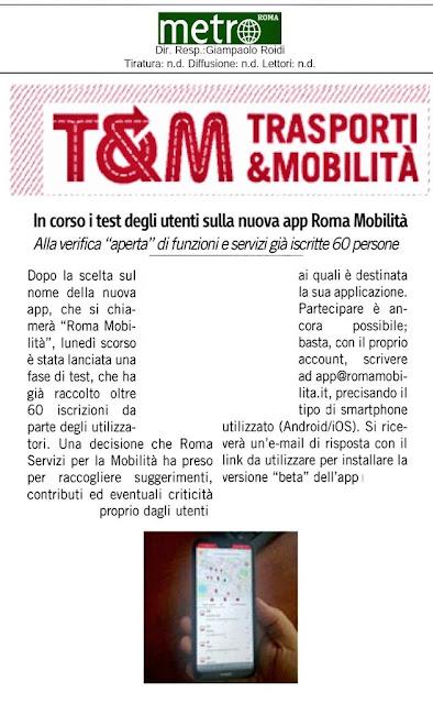 Situazione trasporto pubblico Roma venerdì 19 luglio