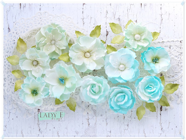 Mint & Turquoise Foamiran Flowers