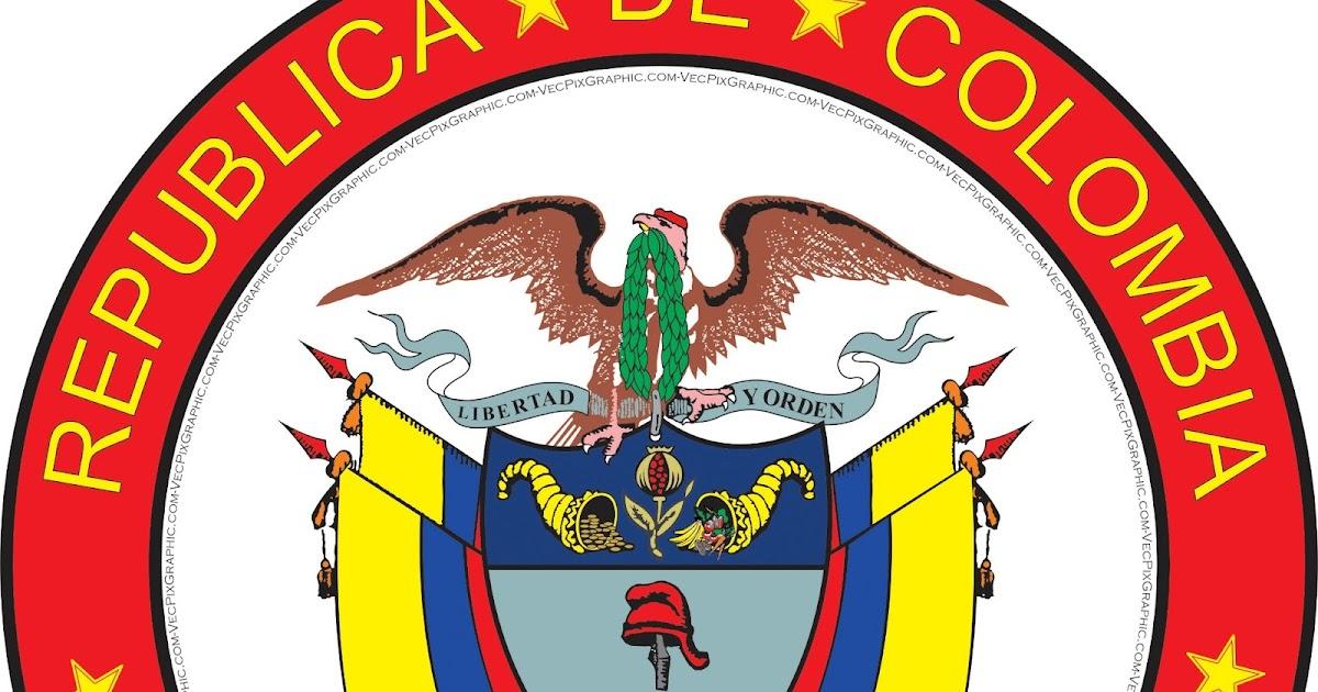 Escudo De Colombia A Gran Escala Impresion Bordado Alta Definicion