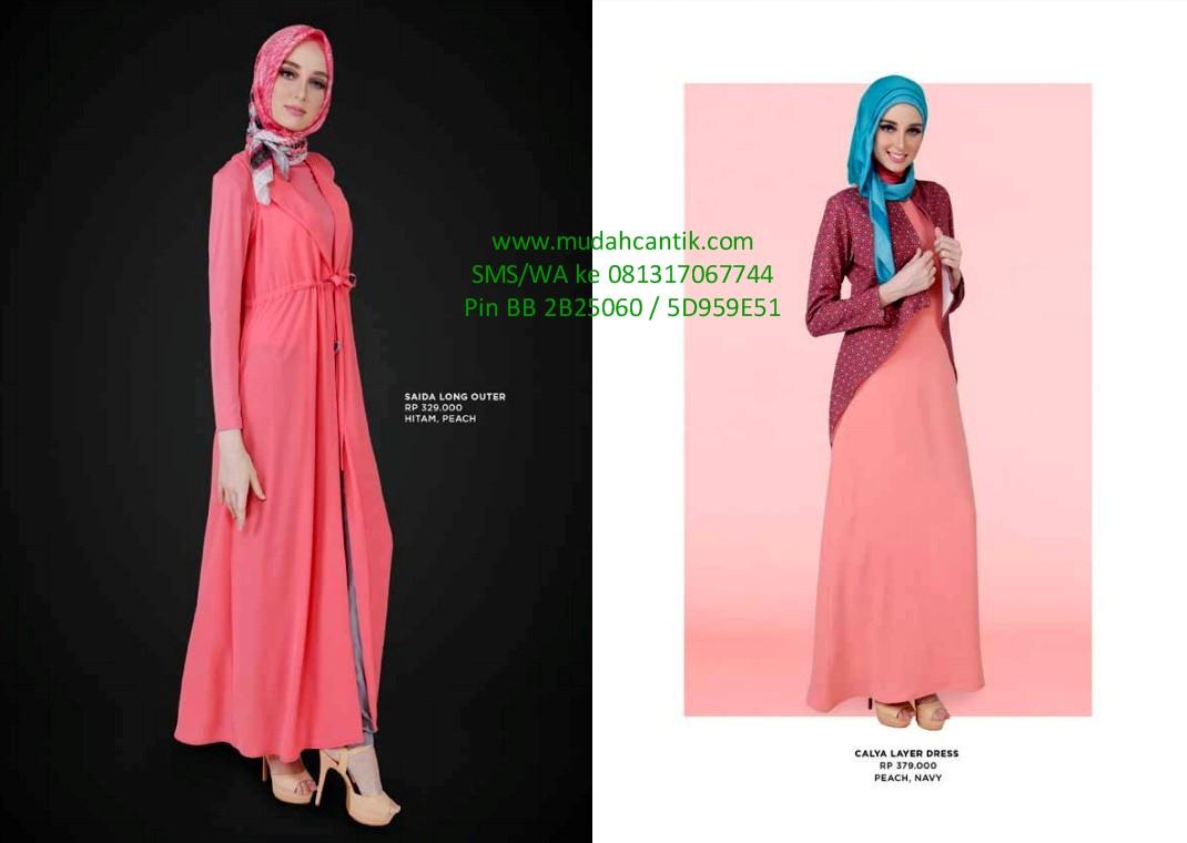 Gamis Lebaran Baju Muslim Hari Raya Idul Fitri Katalog Zoya