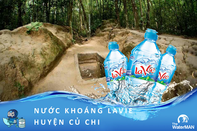 Đại lý đặt nước khoáng Lavie, Viva bình 20L, thùng đóng chai tại huyện Củ Chi
