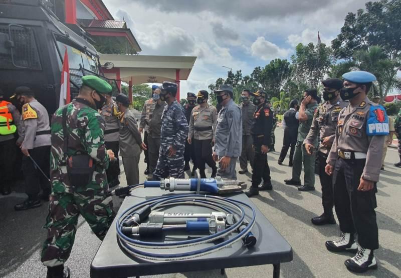 Danlantamal Hadiri Apel Kesiapan Penanganan Bencana Alam di Wilayah Kepri