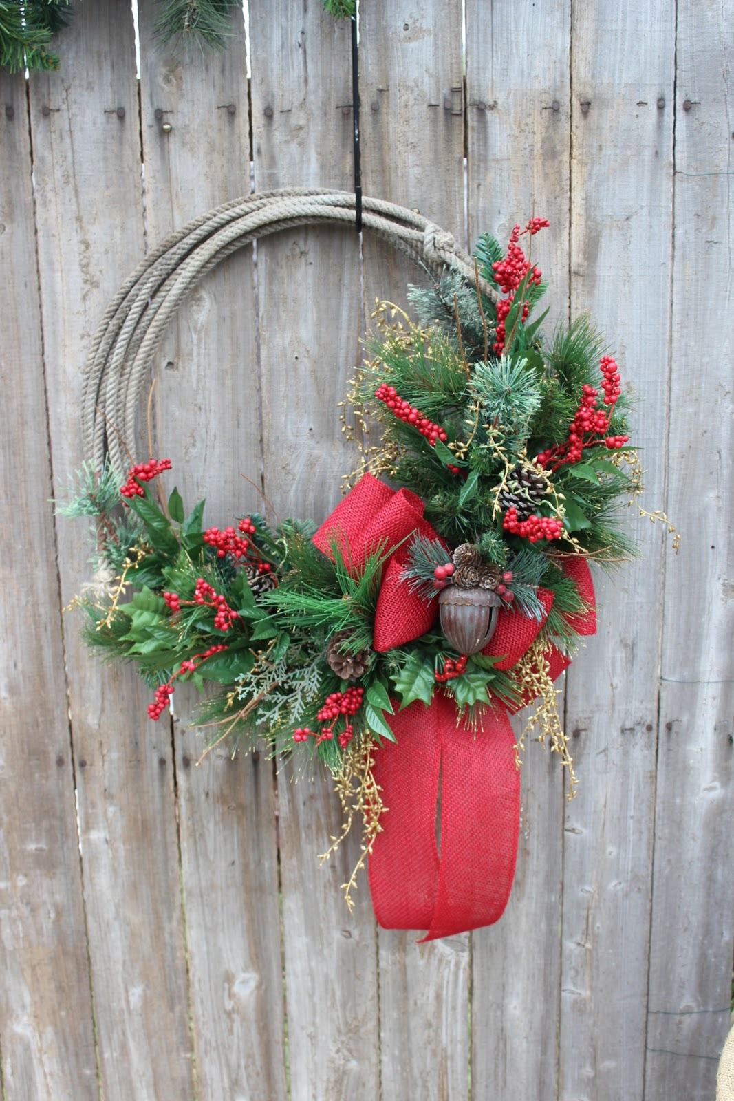 Gypsyfarmgirl New Western Rope Wreaths For Christmas