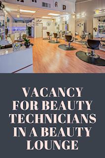 Vacancy for Beauty Technicians in Lekki
