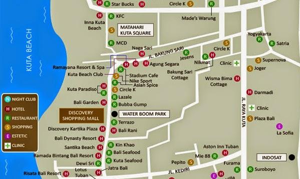 Bali Hotel Map Kuta