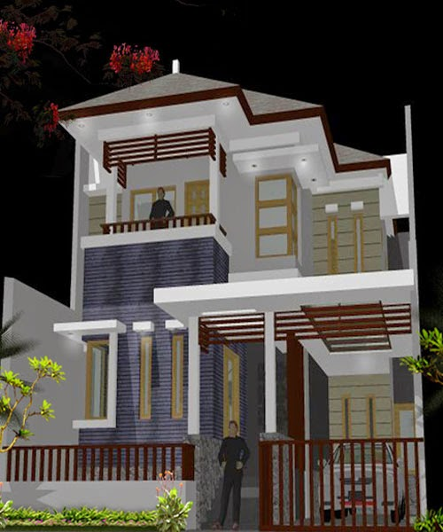 Top Konsep 20 Desain Rumah Lantai 2 Di Lahan Sempit