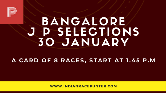 Bangalore Jackpot Selections 30 January, Race Odds