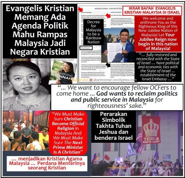 Jangan tolak kemungkinan Malaysia boleh jadi negara kristian. Sejarah membuktikan demikian...