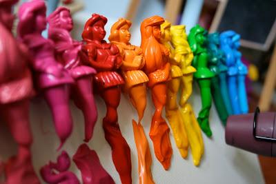 Pink And Green Mama Melted Disney Princess Crayon