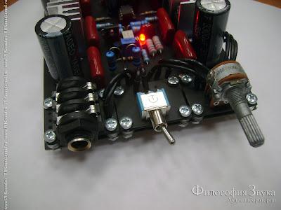 Фото прототипа конструктора усилителя для наушников