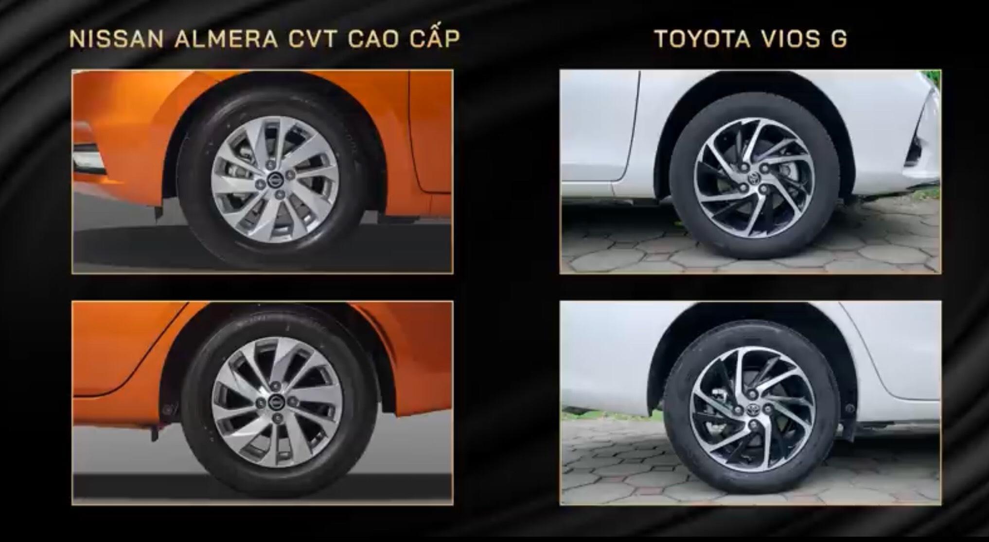 So sánh Toyota Vios và Nissan Almera 2021 về giá bán, trang bị tiện ích. 13