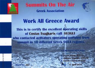 Work All Greece Award