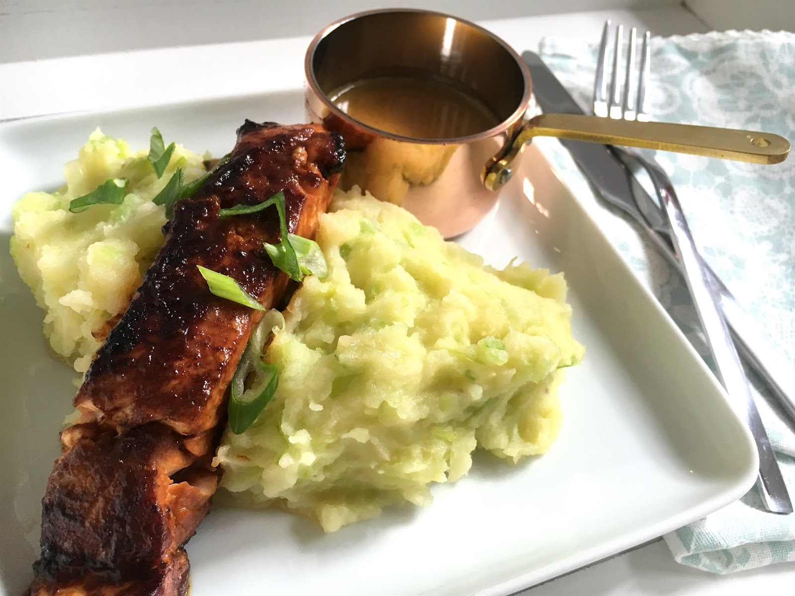 Salmon-in-Miso-Butter-with-Leek-Mash