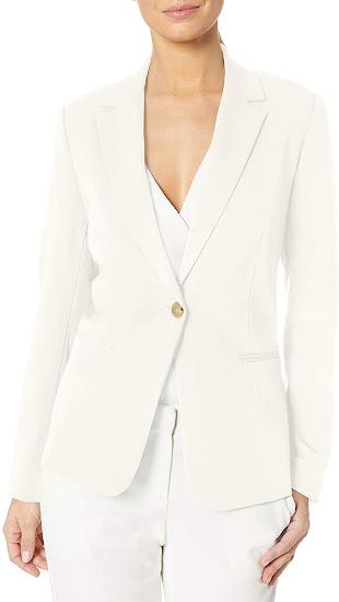 Ivory White Blazers For Women