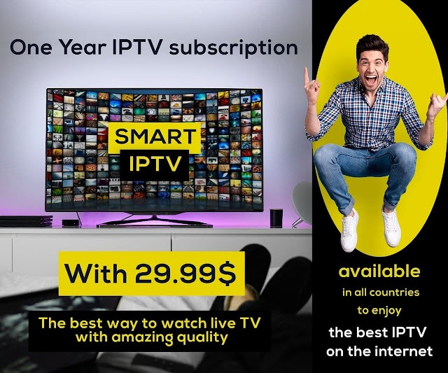 Smart Iptv Subscription 12 Months With 29.99$ Only!!