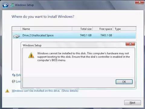 """كيفية حل الخطأ """"لا يمكن تثبيت الويندوز على هذا القرص"""" في نظام التشغيل Windows 10؟"""