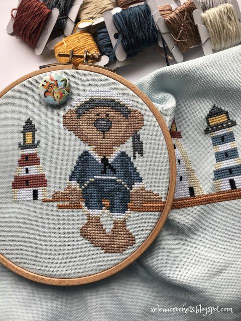 bommel lighthouse collector вышивка мишка с маяками