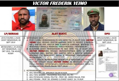 breaking news satgas nemangkawi tangkap viktor yeimo dalang kerusuhan papua 2019 Breaking News: Satgas Nemangkawi Tangkap Viktor Yeimo Dalang Kerusuhan Papua 2019