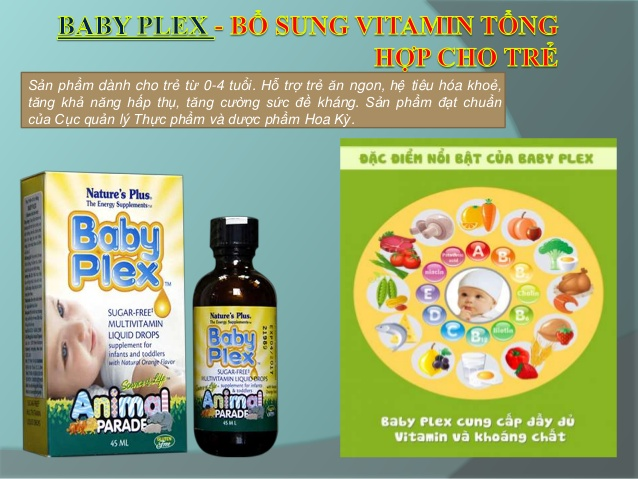 Vitamin cho bé Natures Plus Baby Plex Animal Parade 60ml của Mỹ