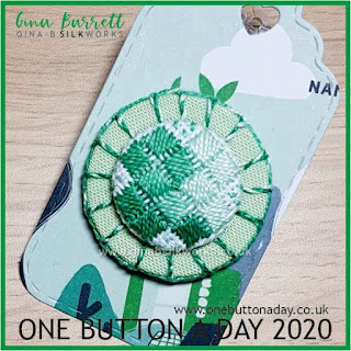 One Button a Day 2020 by Gina Barrett - Day 77: Trifolium