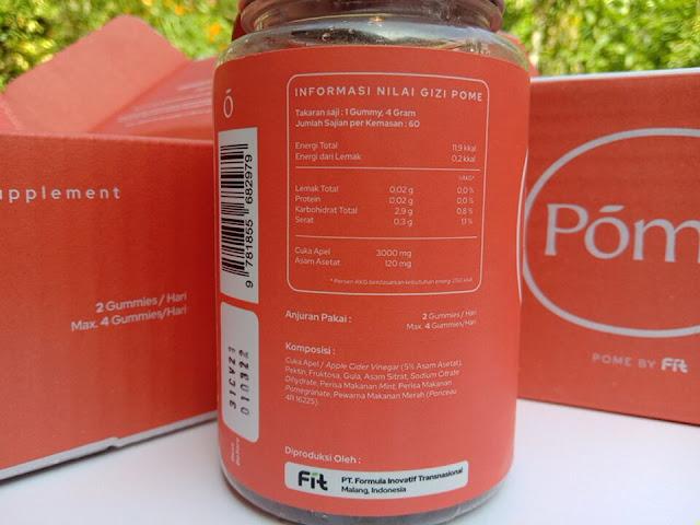 Kandungan Nutrisi POME Gummy Cuka Apel