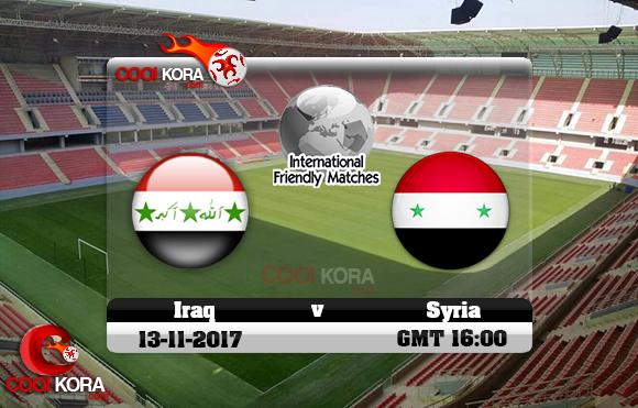 مشاهدة مباراة العراق وسوريا اليوم 13-11-2017 مباراة ودية