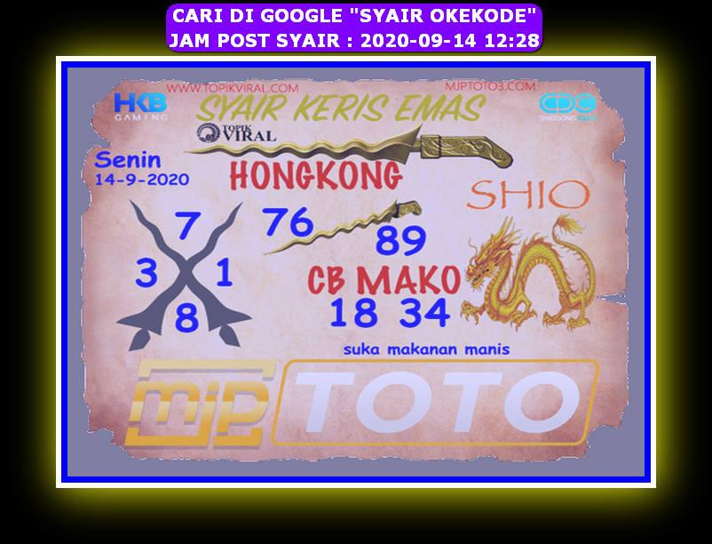 Kode syair Hongkong Senin 14 September 2020 303
