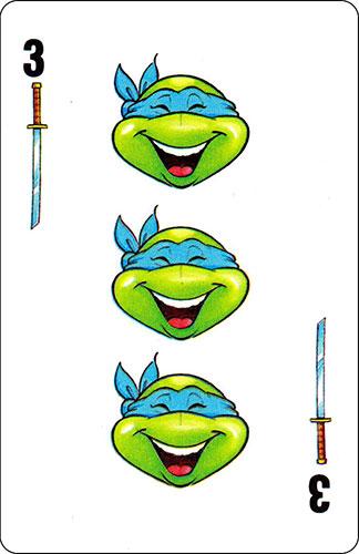 Baraja infantil Las Tortugas Ninja Fournier Carta Leonardo 3