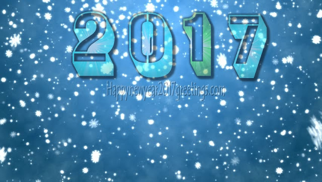 New year 2017 ICE Falling Desktop Wallpapers