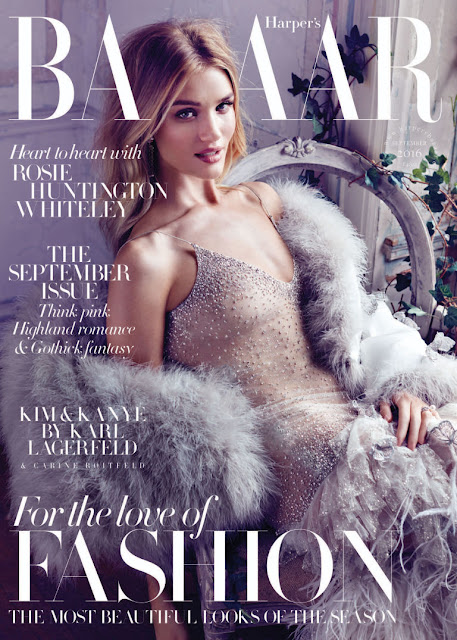 Actress, Model, @ Rosie Huntington-Whiteley - Harper's Bazaar UK, September 2016