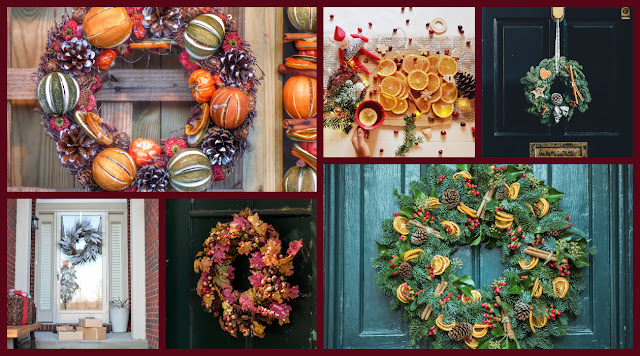 dried orange wreaths