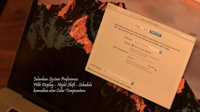 Cara Mudah Mengaktifkan Night Shift di macOS agar Mata tidak Cepat Lelah
