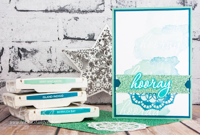 Celebration card featuring Reverse Words from Stampin' Up! UK - Get these free stamps here
