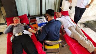 Dalam Rangka HUT Bhayangkara Ke-74, Polres Pangkep Gelar Donor Darah