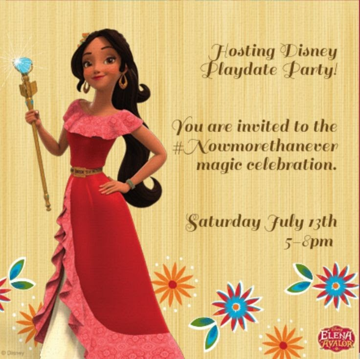 Elena of Avalor invitation party