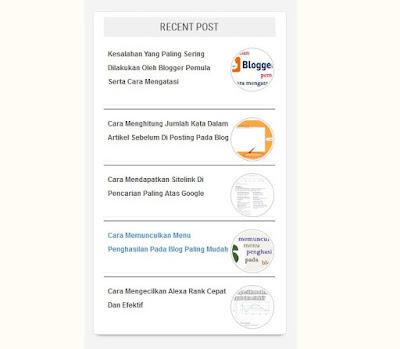cara membuat recent post blog keren dan simple