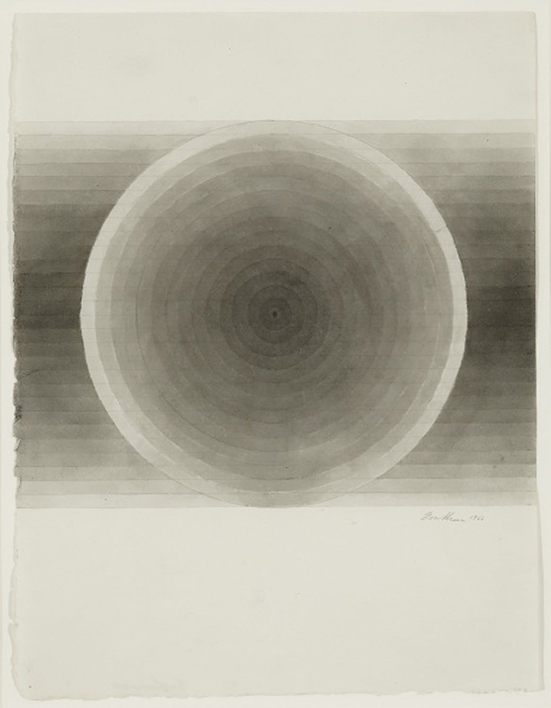 Eva Hesse  No Title, 1966  brown ink wash and pencil