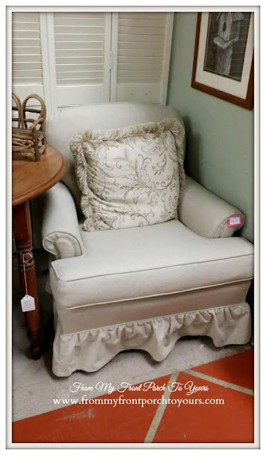 Ruffled Skirted Chair-A Day Antiquing- Antique Shopping