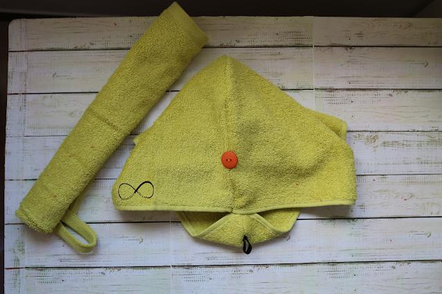 gorro de ducha con tela toalla