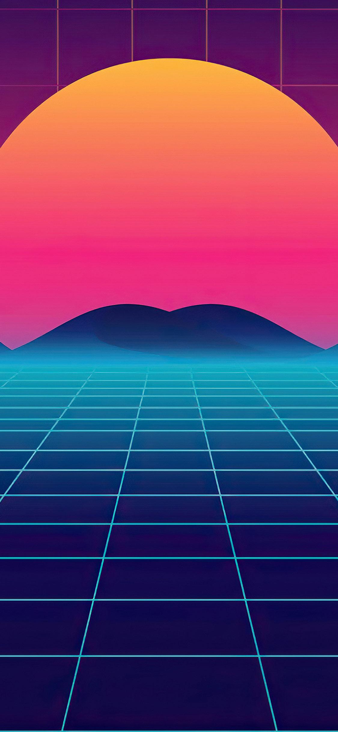 Synthwave Retro Sun Iphone 11 Wallpaper