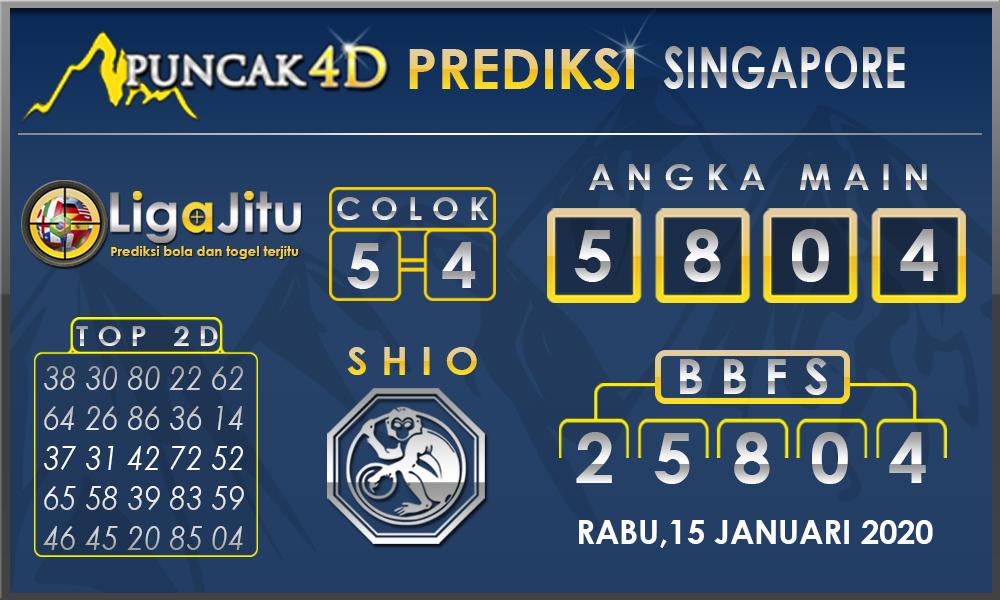 PREDIKSI TOGEL SINGAPORE PUNCAK4D 15 JANUARI2020