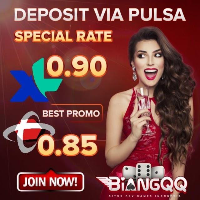 Situs Poker Online BiangQQ Deposit Via Pulsa Online 24 Jam